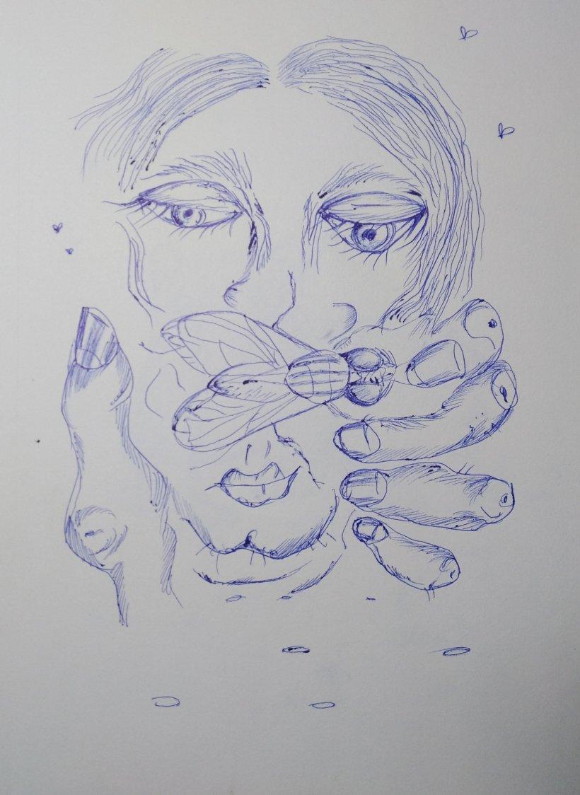 Tinta sobre papel por #artistaNairobiPrahl para Ucrania Fantástica