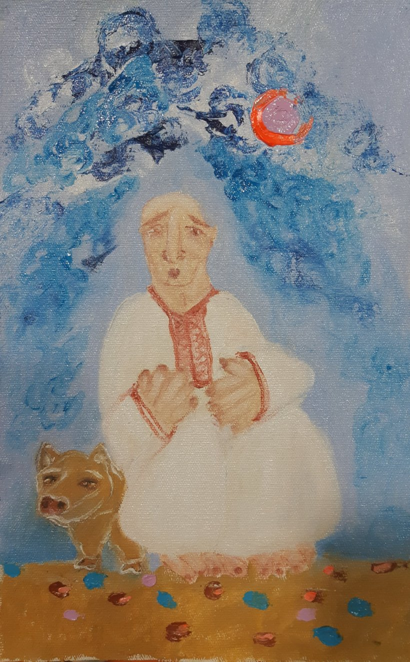 oleo sobre tela ppr artista nairobi Prahl para Ucrania fantástica
